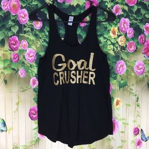 Alternative Goal Crusher Black Tank Top Size M
